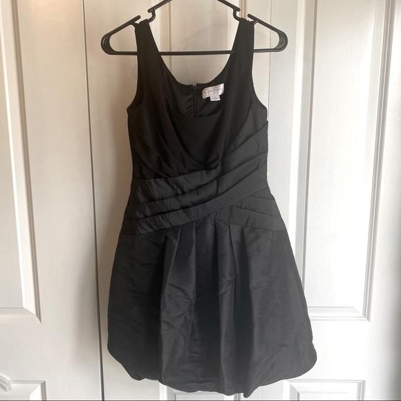 Black Jessica Simpson bubble hem cocktail dress